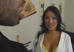 Martial Arts Student Asa Akira Gets Lesson