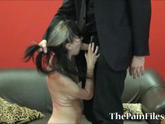 Kinky spanking and brutal blowjob