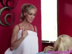 Milf shows her masseuse a good time by licking her ass