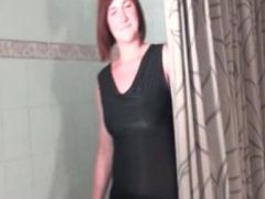 Busty redhead is very horny shows