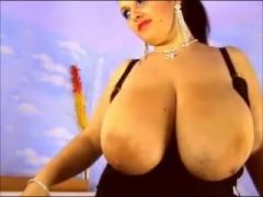 The biggest tits on a webcam