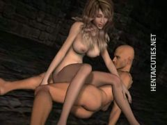 Chesty 3D anime  fuck a big dick