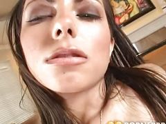A creampie for sweet latina porn-star lela star