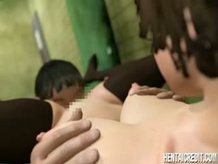 Humiliated 3d chick fucked