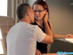 European spex teacher fucked by her student