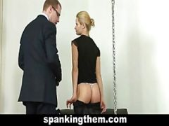 Spanking Punisment For Sexy Blonde