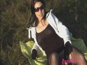 Exhibitionism in a field!