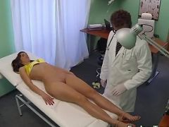 Doctor fucking small tits patient in fake hospital