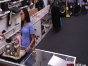 Chick In Glasses Pawns Her Tight Pussy At The Pawnshop
