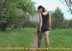 Pissing in the park