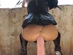 Black angel and horse cock