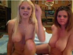 Me and my GF on lesbo livecam