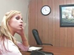 blondie teacher drilled on the table