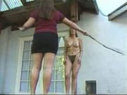Girl Is Beaten With Whips