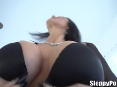 Small Tits Sexy Blonde Rides A Massive Meat Rod