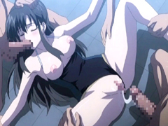 Swimsuit hentai gangbang and creampie