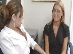 Lesbians At The Office