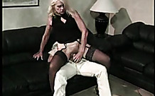 Granny with stockings on fucked hard