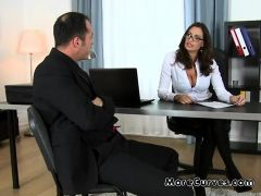 Lawyer Gets Her Big Tits Worshipped By Client