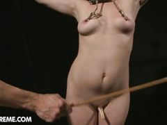 Teen hellena bonded and craving for pain