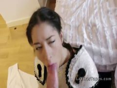Latina beauty lets matador bangs her pov