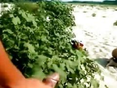 Girl Gets Eaten Out On The Beach For All To See