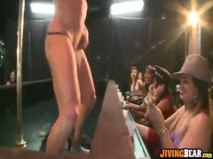 Girl suck dick in front of the crowd