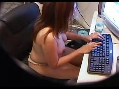 DAUGHTER CAUGHT NAKED ON SPYCAM