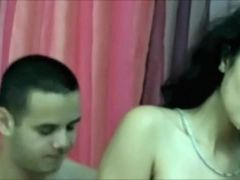 Cute latin honey angel gets a facial from her BF