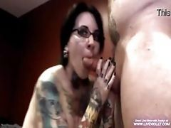 Tattooed Pierced Jeselyn Gets Gagged And  ...