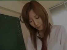 Japanese school student and her teacher fucks