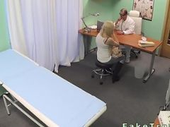 Hospital patient has sex from behind with the doctor at a fake hospital