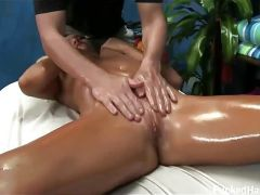 Cameron seduced and fucked by massage therapist