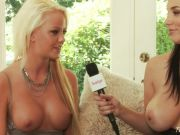 Hotties Jelena Jensen and Lindsay Marie showing their huge tits in an inter...
