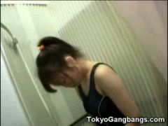 Asian in Shower with Perverts!