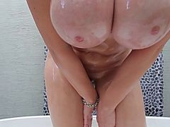 Sara Jay Playing with a BBC Dildo