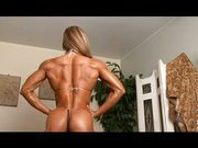 Muscle strong woman sexy