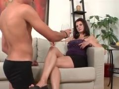 Beautiful MILF Gives Some Lessons To Young BoY