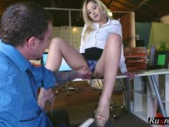 Goldie Rush Footsie In The Office HD