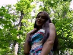 Big boobs eurobabe screwed in the woods for some cash