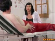 Cfnm femdom nurse Eden James giving head