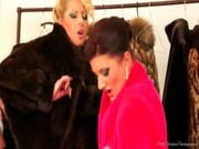 Daria Glower and Celine Noiret in Fur Coat Fucking and Pissing (Fully Clothed)
