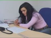 Teen In The Office