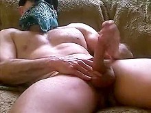 jerking off and rubbing cum on my abs