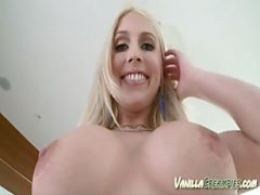 Christie Stevens Slides Fingers In Hairless Pussy