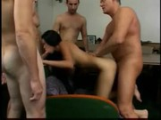 Asian Domino Gets Gangbanged And Jizzed