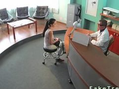 Sexy patient bent over fucked in fake hospital
