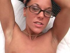 Slut in glasses sucked and fucked