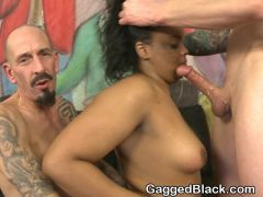 Black Amateur Ghetto Tramp Getting Face Fucked Hard