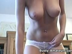 Busty Lisa Neils playing her tits and pussy
